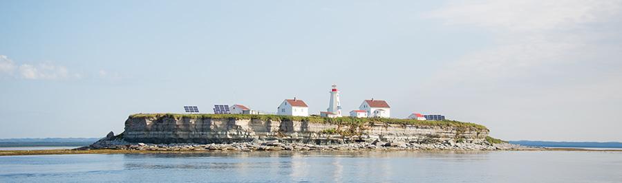 Les îles des régions du Québec maritime